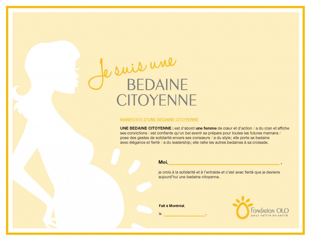 Certificat - Bedaine citoyenne