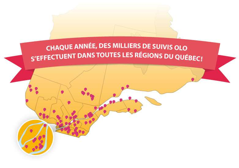 95 membres de la Fondation offrent les suivis OLO à domicile et dans plus de 150 points de service