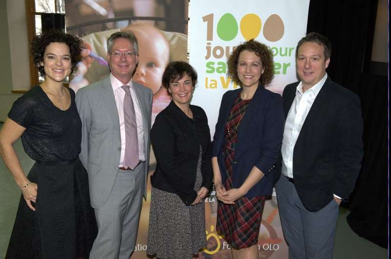 Photo officielle - Lancement 1000 jours - Fondation OLO
