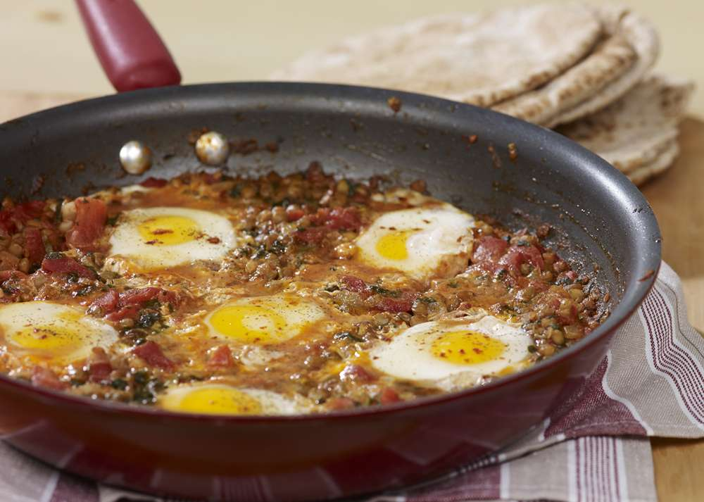 Fondation OLO | Recipe | Eggs in a Tomato Sauce (or Shakshuka with Lentils)