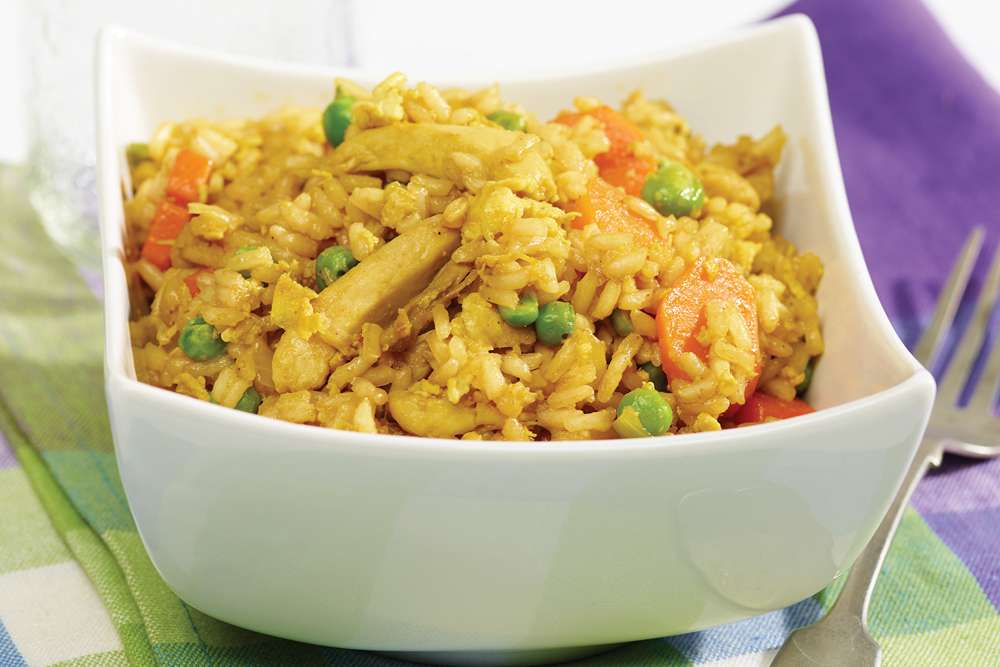 Fondation OLO | Recipe | Curry Chicken Fried Rice