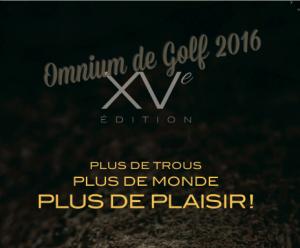 Inscription à l'Omnium de golf 2016