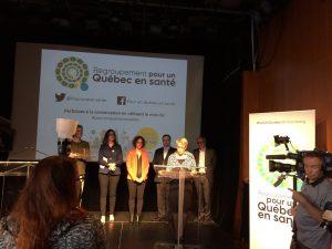 Unissons notre voix pour un Québec en santé!