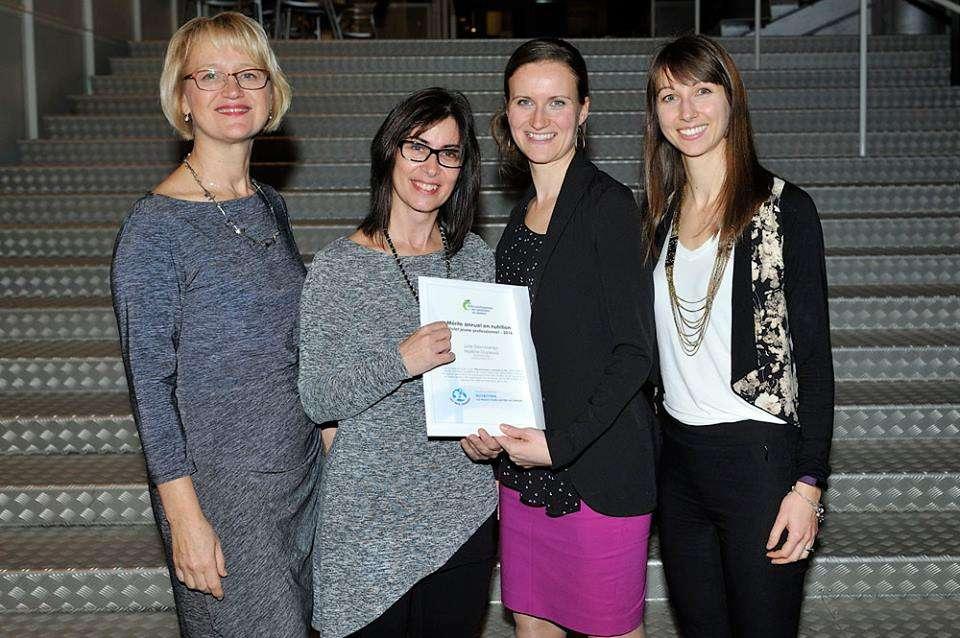 Les nutritionnistes de la Fondation OLO reçoivent un prix de l'OPDQ