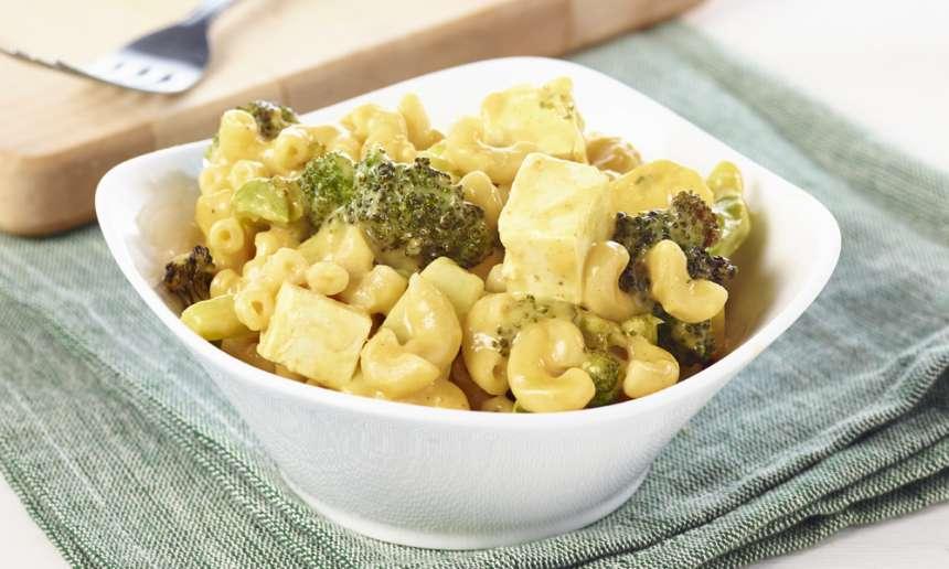 Fondation OLO | Recette | Macaronis au fromage, tofu et brocoli rôti