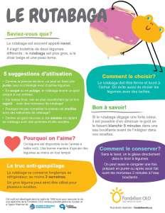 Infographie - rutabaga | Fondation OLO