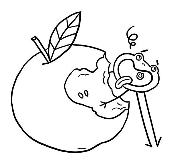 Coloriage la pomme jeux et outils fondation olo - Dessin pomme a colorier ...