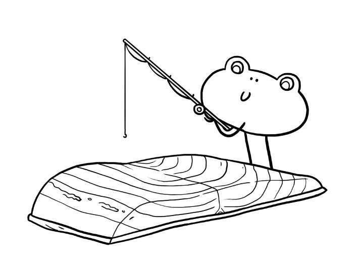 Coloriage le saumon tout bon jeux et outils - Cuisiner saumon surgele ...
