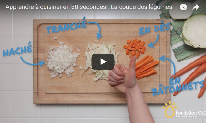 Fondation OLO | Vidéo | La coupe des légumes