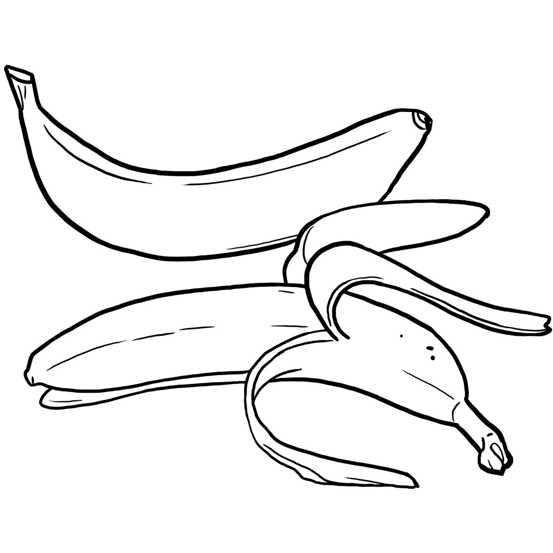Coloriage des aliments la banane jeux et outils - Jeux et coloriage ...