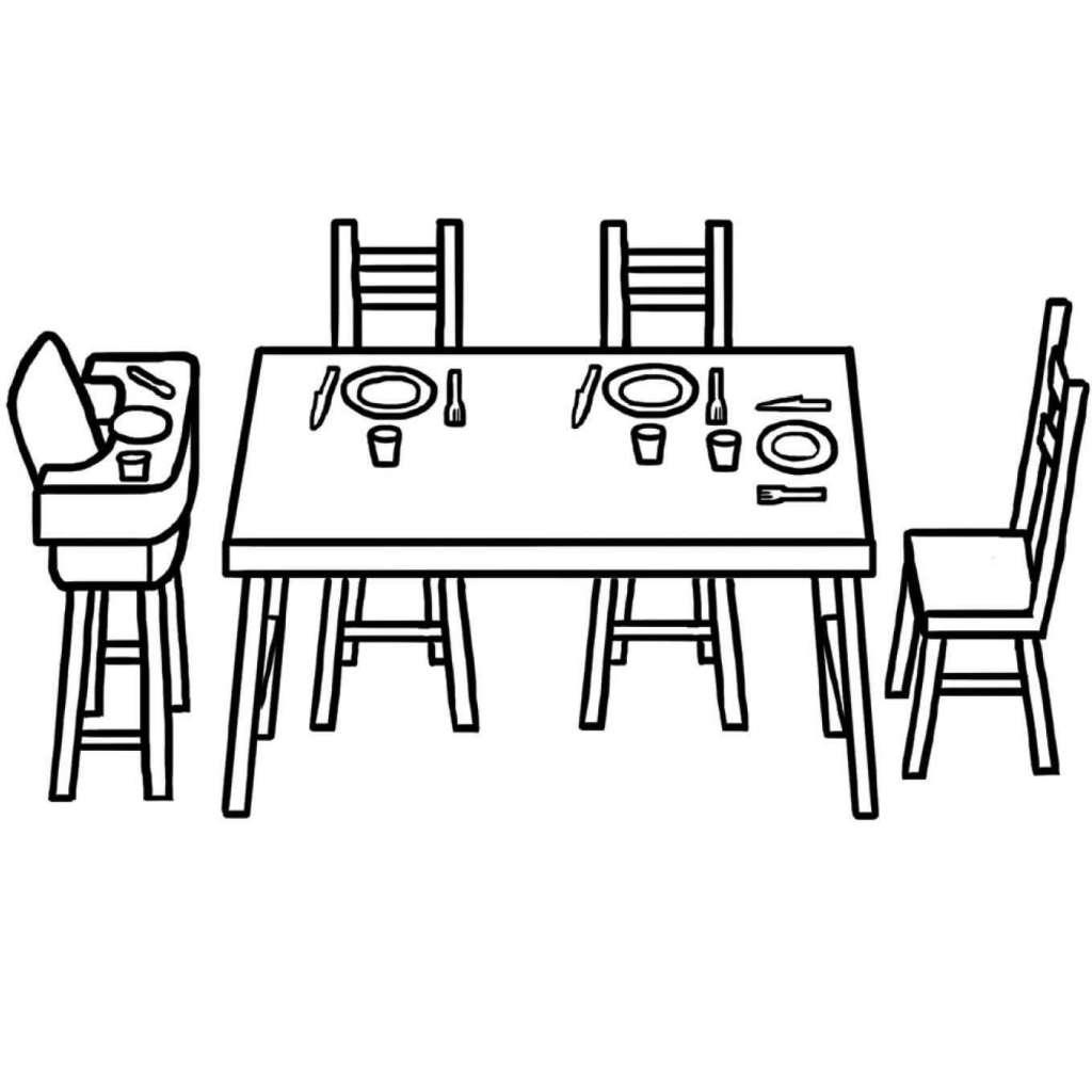 Fondation OLO | Coloriage | Le coin repas