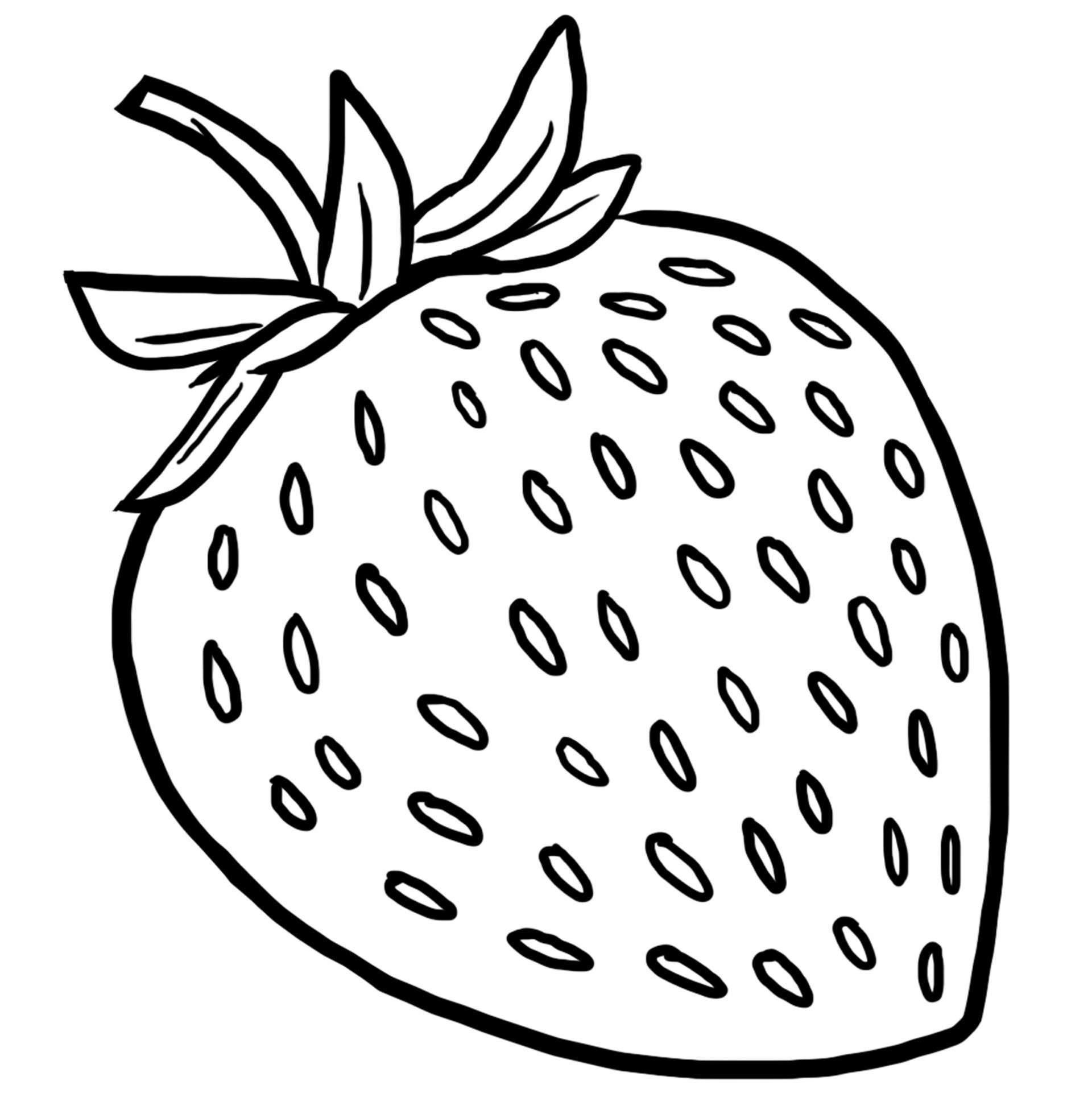 Coloriage des aliments la fraise jeux et outils - Dessins fruits ...
