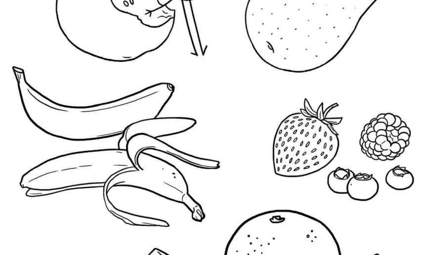 Coloriage lait et substituts jeux et outils fondation olo - Fruits coloriage ...
