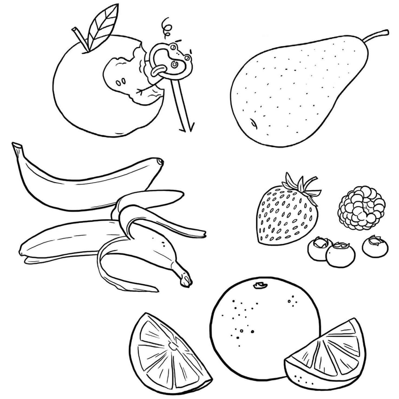 Coloriage les fruits jeux et outils fondation olo - Fruits coloriage ...