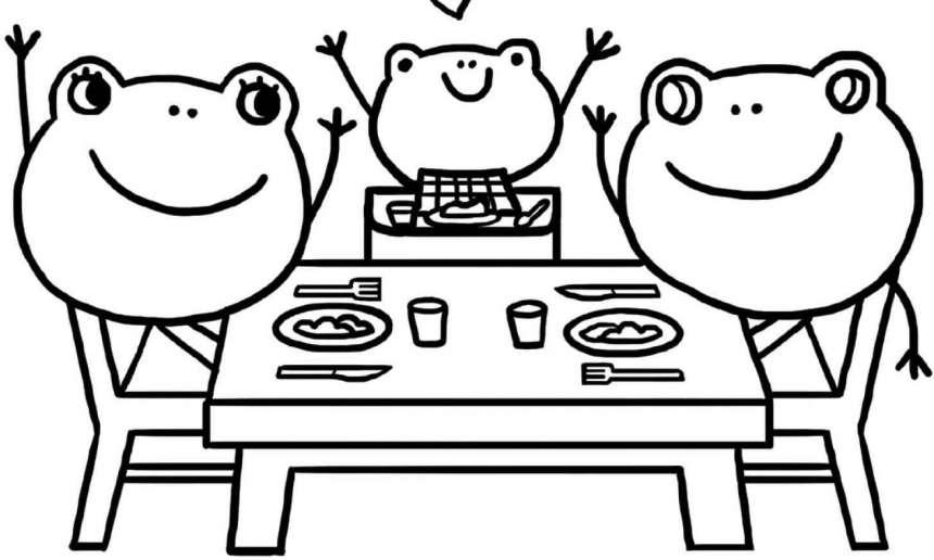 Fondation OLO | Coloriage | Manger en famille