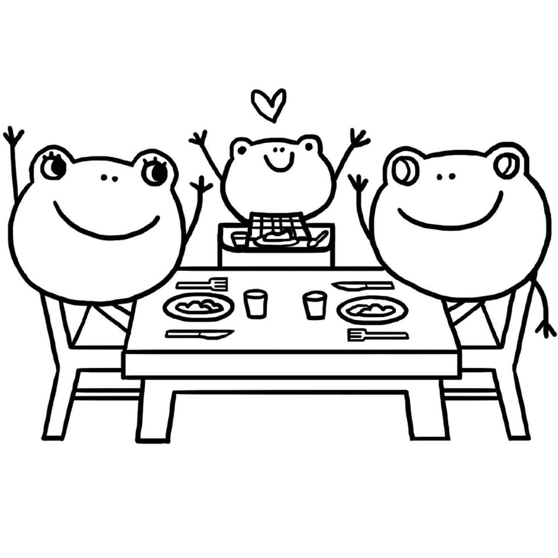 Coloriage : manger en famille | Jeux et outils | Fondation OLO
