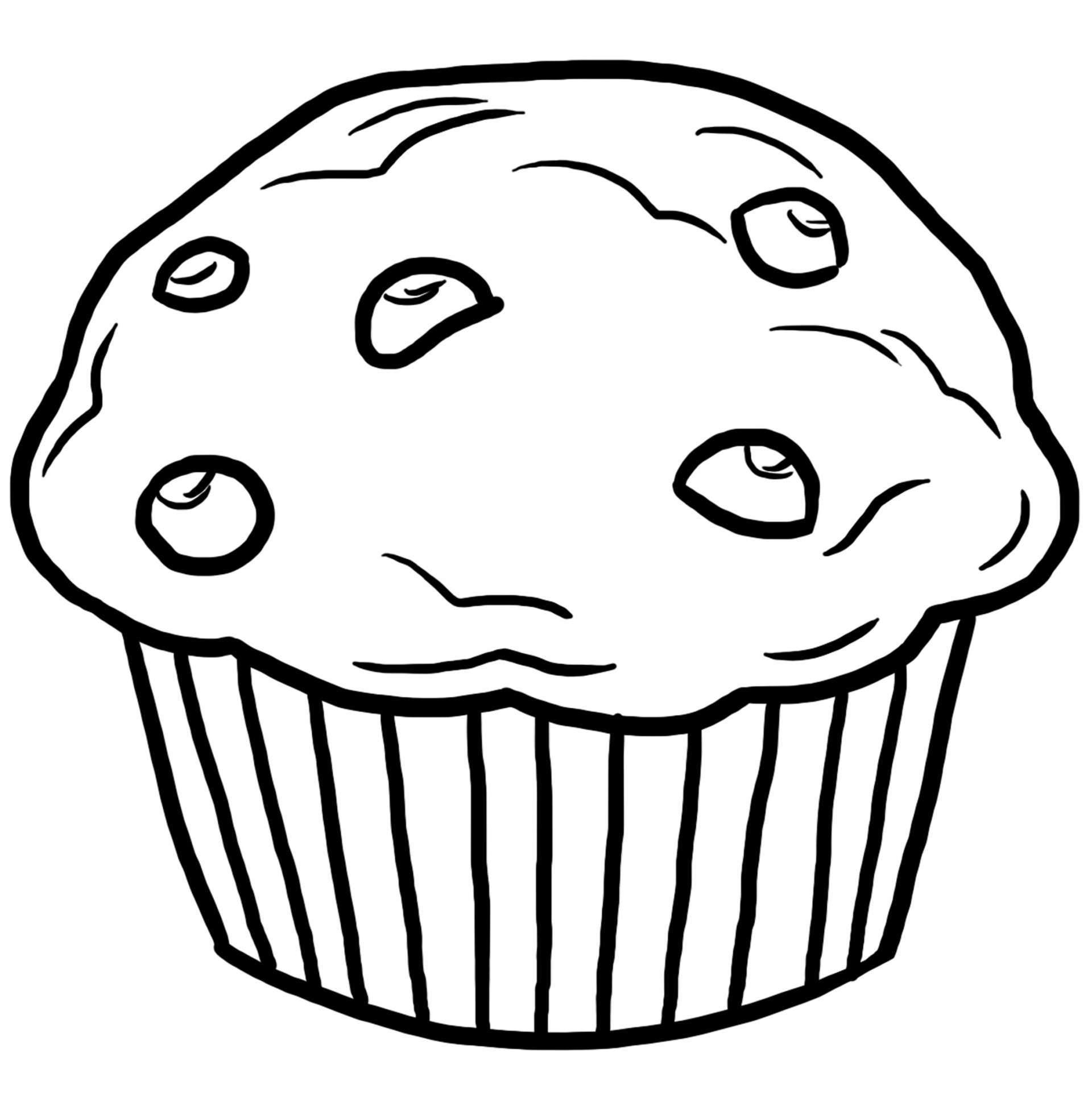 coloriage des aliments muffin jeux et outils