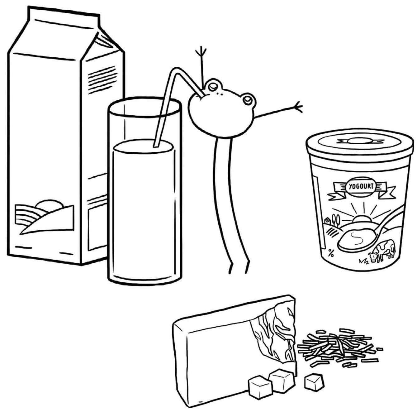 Coloriage lait et substituts jeux et outils - Jeux et coloriage ...