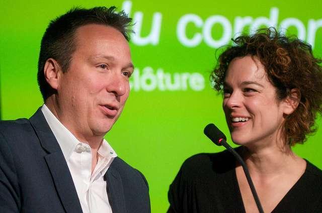Pierre-François Legendre et Hélène Bourgeois Leclerc lors de la Clôture de notre campagne majeure de financement en juin 2016.