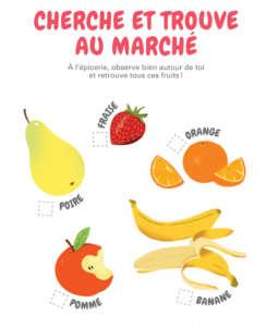 Fondation OLO   Activité de la semaine - jeux à l'épicerie (les fruits)