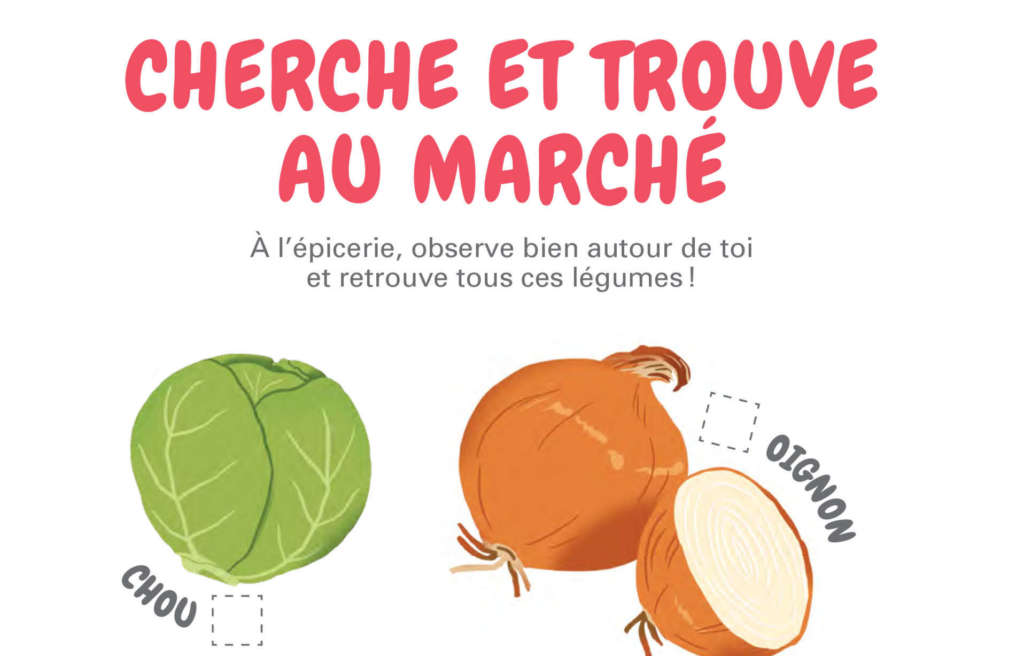 Fondation OLO | Activité de la semaine - jeux à l'épicerie (les légumes)
