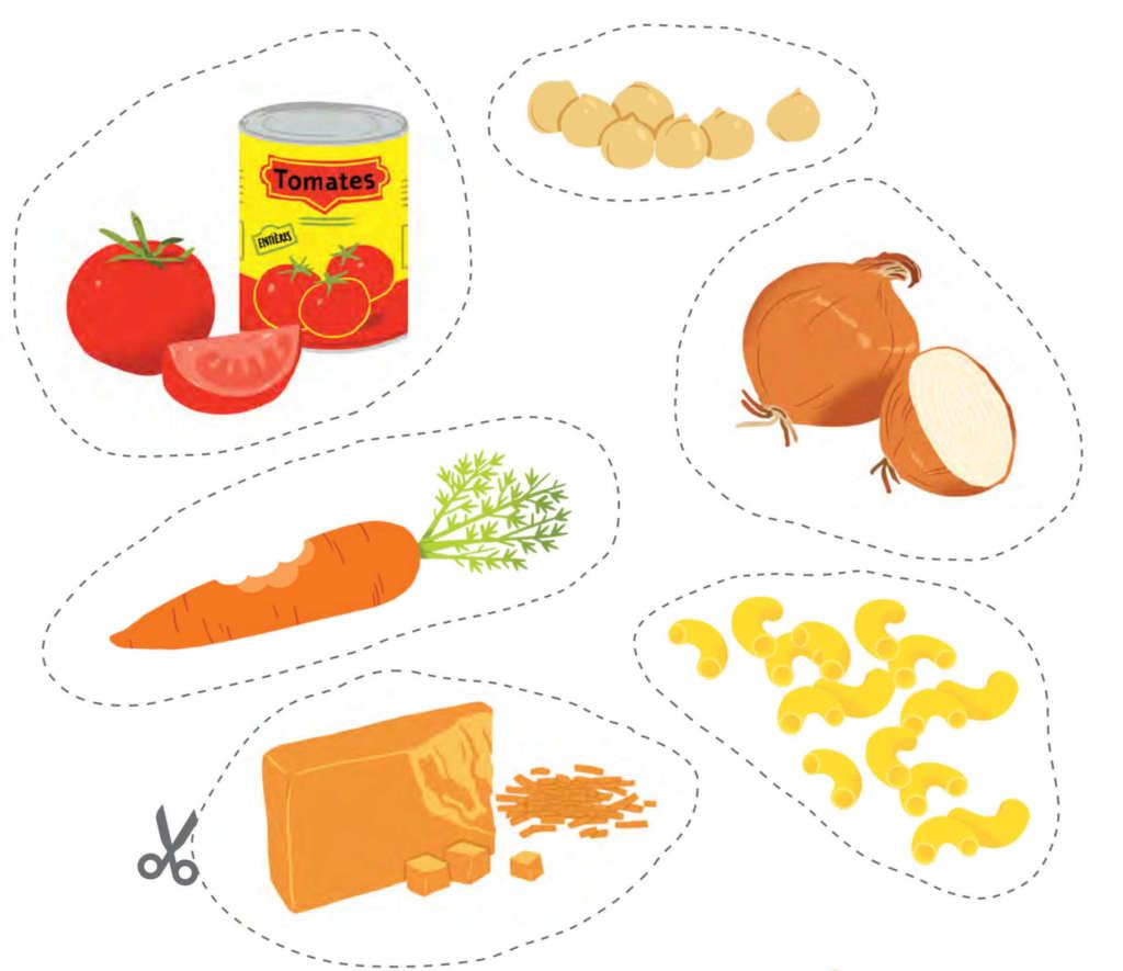 Fondation OLO | Jeu à imprimer - Cuisine ton repas!