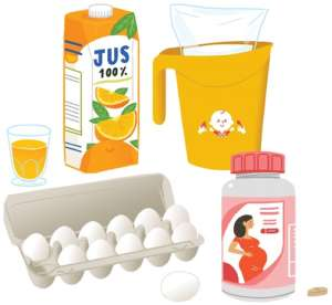 Fondation OLO | Oeufs - lait - jus d'orange - vitamines prénatales
