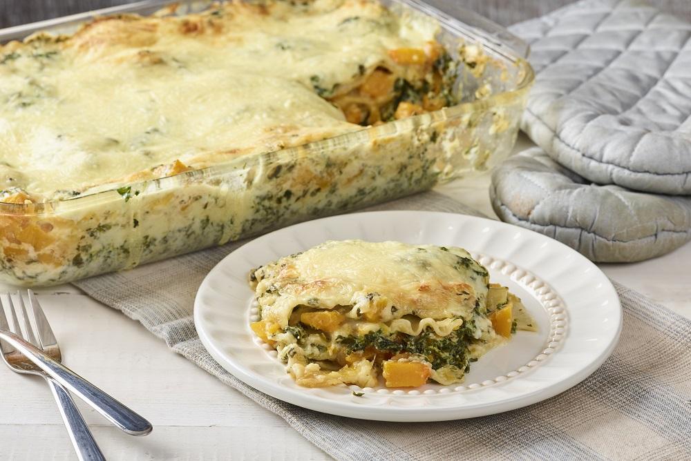 Fondation OLO | Recette | Lasagne végétarienne aux épinards et à la courge