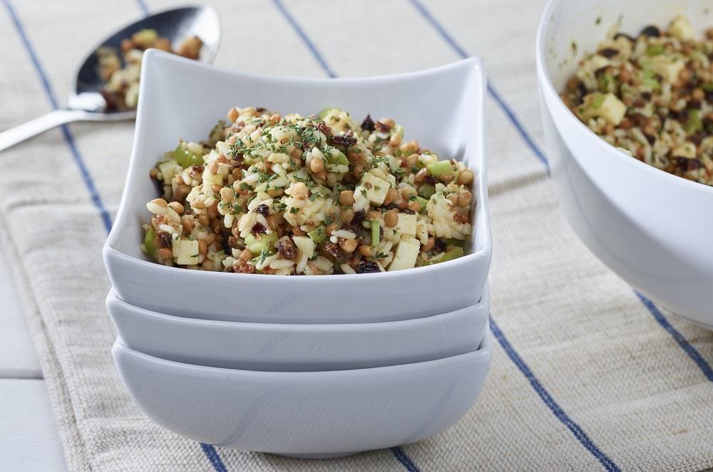 Fondation OLO | Recette | Salade de riz aux lentilles