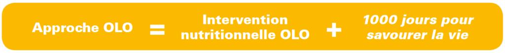 Fondation OLO | Approche OLO | Intervention nutritionnelle OLO + 1000 jours pour savourer la vie