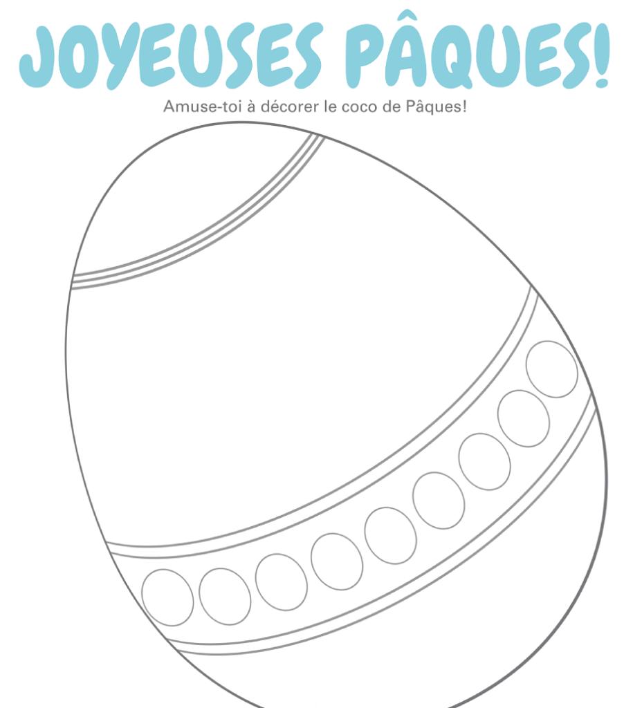 Fondation OLO | Coloriage | Joyeuses Pâques!