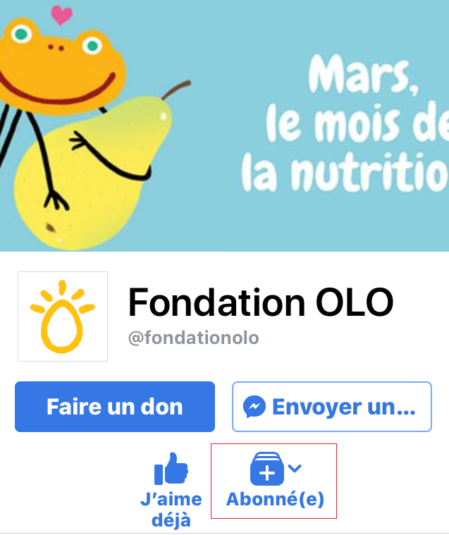 Fondation OLO | Publication Facebook