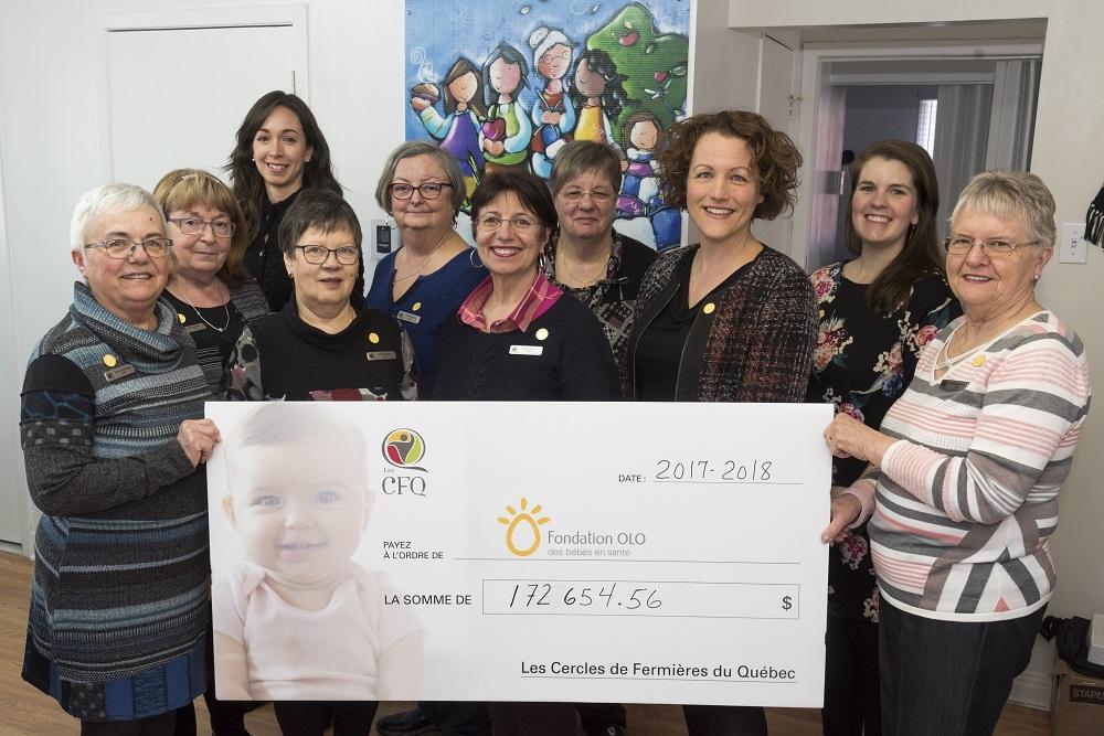 Fondation OLO | Remise du chèque CFQ 2018