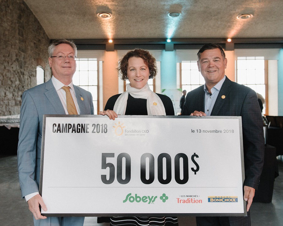 Fondation OLO | Remise chèque - Campagne Sobeys 2018