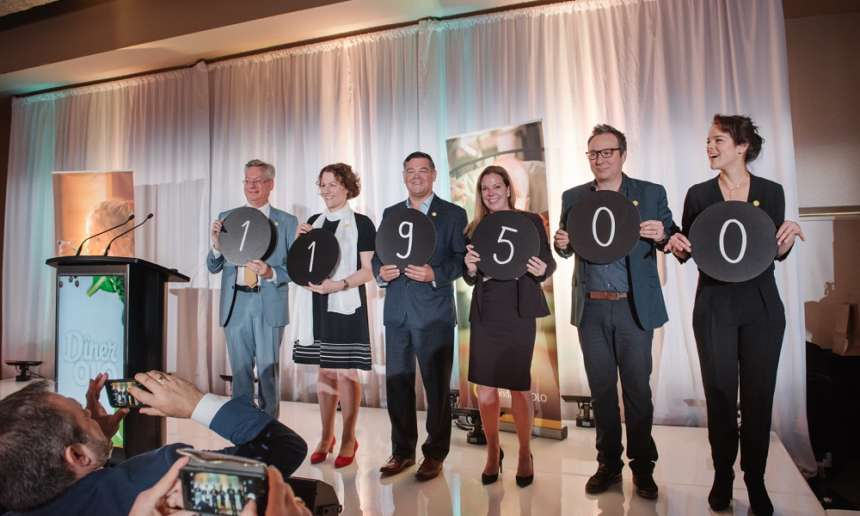 The 15th edition of the Dîner OLO, that held place at the Bonsecours Market on November 13th,  has raised 119 500$!