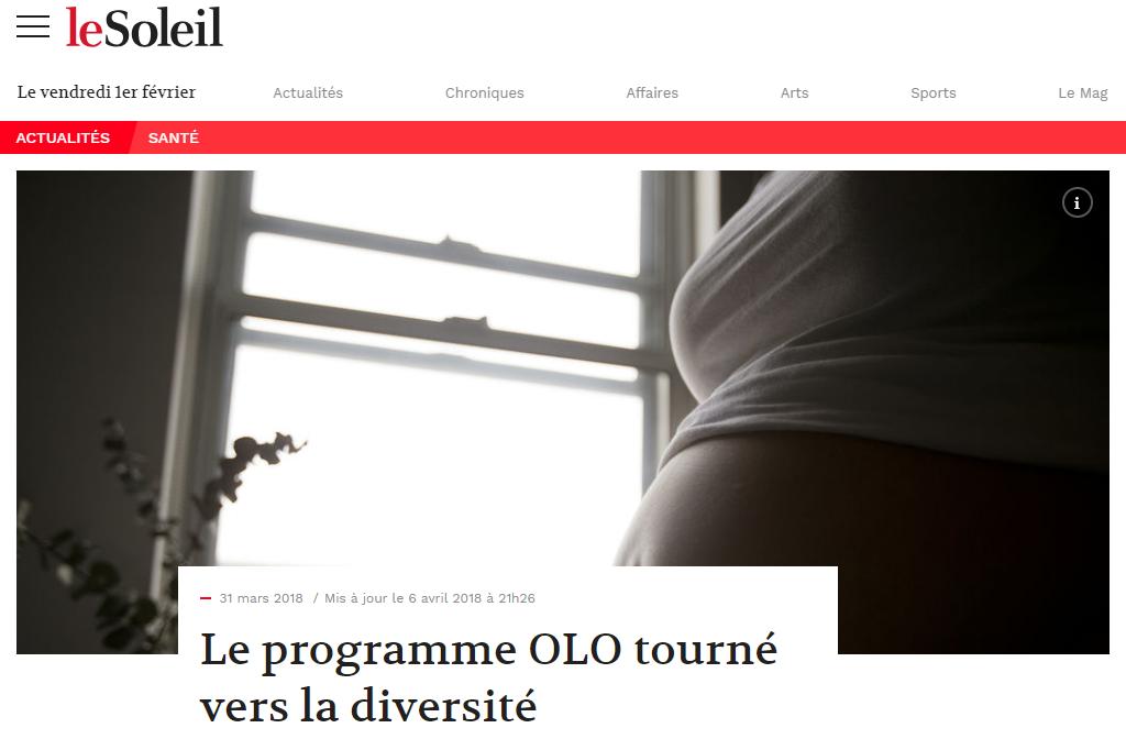 Revue de presse de la Fondation OLO | Le Soleil | Le programme OLO tourné vers la diversité
