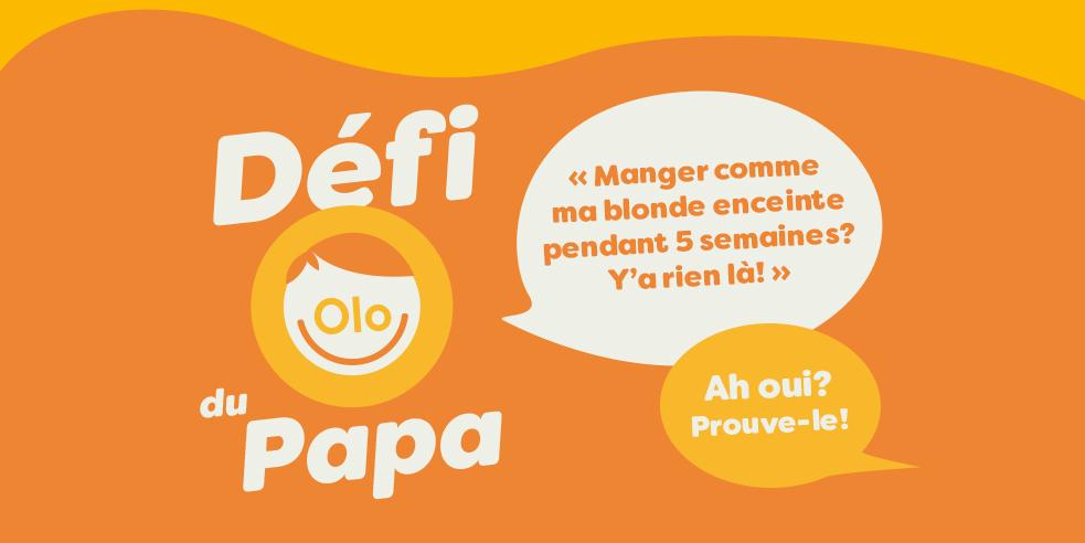 Fondation Olo | Défi Olo du Papa - entête infolettre