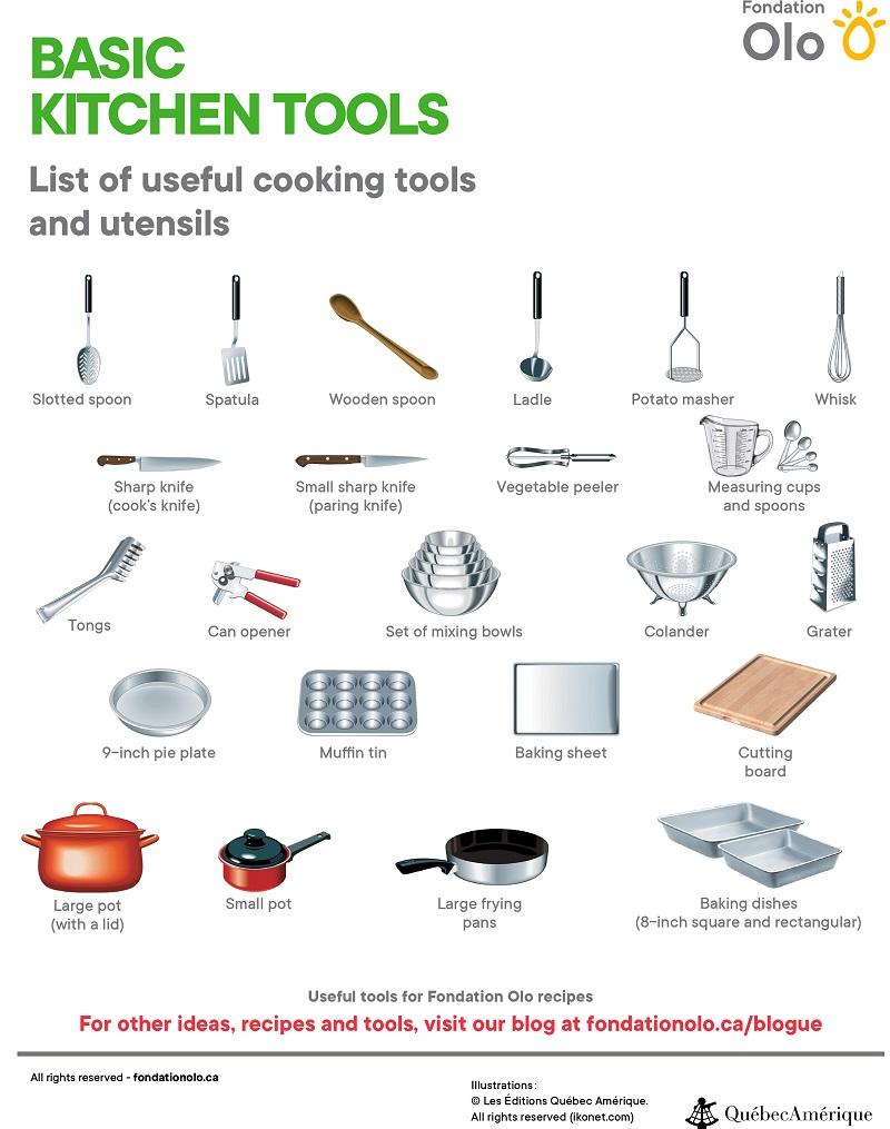 Fondation Olo | Équipement de base en cuisine