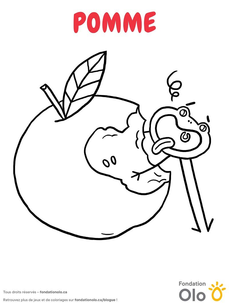 Fondation Olo | Coloriage | Pomme