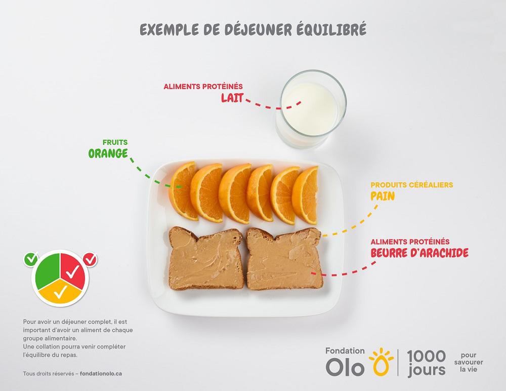 Fondation Olo | Exemple de repas équilibrés